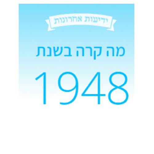 Timeline of the State of Israel